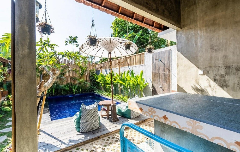 Seminyak villas with outdoor private pool, bean bag to relax